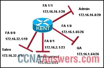 What are the broadcast addresses for each subnet