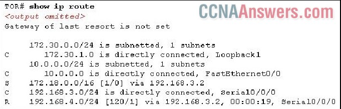 What does the TOR router do with traffic that is destined for a web server