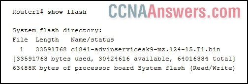 A network administrator is considering updating the IOS on Router1
