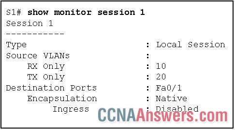 Based on the output generated by the show monitor session 1 command, how will SPAN operate on the switch?