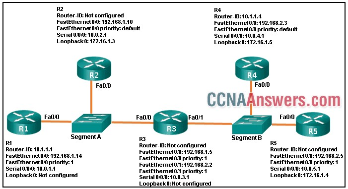 what are three results of the OSPF DR and BDR elections?