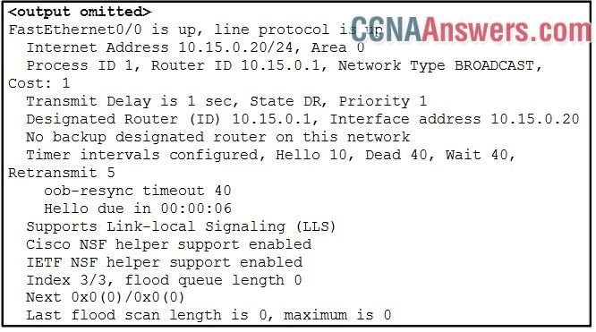 What the amount of time that has elapsed since the router received a hello packet?