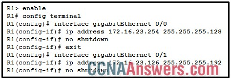 Which command should be used to configure EIGRP to only advertise the network that is attached to the gigabit Ethernet 0/1 interface?