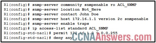 A SNMP manager has IP address 172.16.1.120
