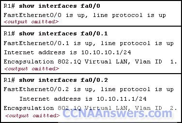 Which two statements are true about the operation of the interfaces