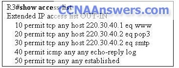 A network administrator needs to add the command deny ip 10.0.0.0 0.255.255.255 any log to R3