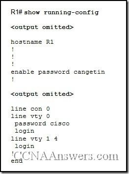 Cisco CCNA 4 Final Exam Answers